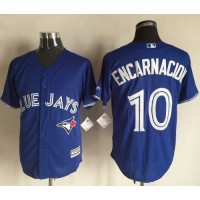 Blue Jays #10 Edwin Encarnacion Blue New Cool Base Stitched Baseball Jersey