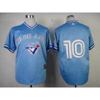 Blue Jays #10 Edwin Encarnacion Blue Stitched Baseball Jersey