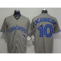 Blue Jays #10 Edwin Encarnacion Grey New Cool Base Stitched Baseball Jersey