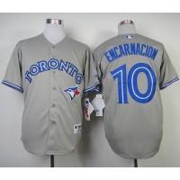 Blue Jays #10 Edwin Encarnacion Grey Stitched Baseball Jersey