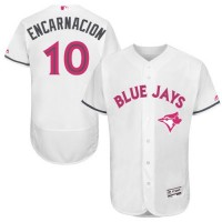 Blue Jays #10 Edwin Encarnacion White Flexbase Authentic Collection 2016 Mother's Day Stitched Baseball Jersey
