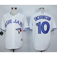 Blue Jays #10 Edwin Encarnacion White New Cool Base Stitched Baseball Jersey