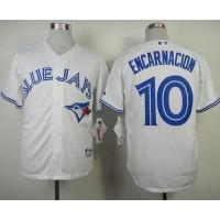 Blue Jays #10 Edwin Encarnacion White Stitched Baseball Jersey
