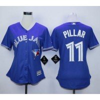 Blue Jays #11 Kevin Pillar Blue Alternate Women's Stitched Baseball Jersey