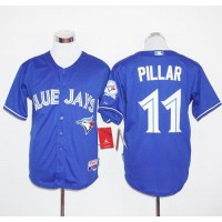 Blue Jays #11 Kevin Pillar Blue Cool Base Stitched Baseball Jersey