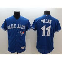 Blue Jays #11 Kevin Pillar Blue Flexbase Authentic Collection Stitched Baseball Jersey