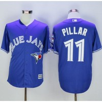 Blue Jays #11 Kevin Pillar Blue New Cool Base 40th Anniversary Stitched Baseball Jersey