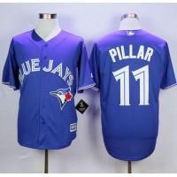 Blue Jays #11 Kevin Pillar Blue New Cool Base Stitched Baseball Jersey