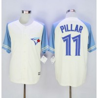 Blue Jays #11 Kevin Pillar CreamBlue Exclusive New Cool Base Stitched Baseball Jersey