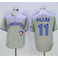 Blue Jays #11 Kevin Pillar Grey New Cool Base 40th Anniversary Stitched Baseball Jersey