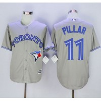 Blue Jays #11 Kevin Pillar Grey New Cool Base Stitched Baseball Jersey