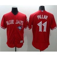 Blue Jays #11 Kevin Pillar Red Flexbase Authentic Collection Canada Day Stitched Baseball Jersey