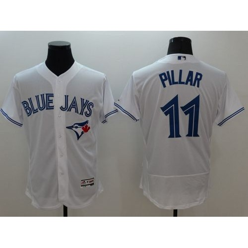 2dc740b018a Blue Jays  11 Kevin Pillar White Flexbase Authentic Collection Stitched  Baseball Jersey