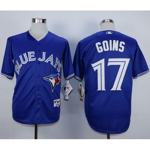 blue jays 17 ryan goins blue cool base stitched baseball jersey rh chinaelitecheapjerseys com