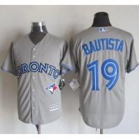 Blue Jays #19 Jose Bautista Grey New Cool Base Stitched Baseball Jersey