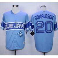 Blue Jays #20 Josh Donaldson Light Blue Exclusive New Cool Base Stitched Baseball Jersey