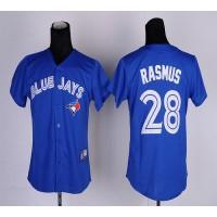Blue Jays #28 Colby Rasmus Blue Women's Fashion Stitched Baseball Jersey