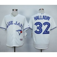 Blue Jays #32 Roy Halladay White Cool Base Stitched Baseball Jersey