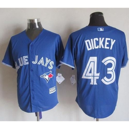 79ea4c41a04 Blue Jays  43 R.A. Dickey Blue New Cool Base Stitched Baseball Jersey