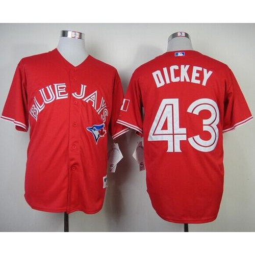 ac82f682c29 ... inexpensive blue jays 43 r.a. dickey red canada day stitched baseball  jersey 619a3 4eb9c
