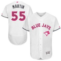 Blue Jays #55 Russell Martin White Flexbase Authentic Collection 2016 Mother's Day Stitched Baseball Jersey