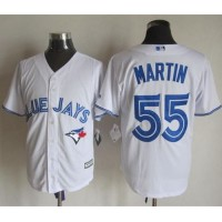Blue Jays #55 Russell Martin White New Cool Base Stitched Baseball Jersey