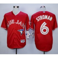 Blue Jays #6 Marcus Stroman Red Canada Day Stitched Baseball Jersey