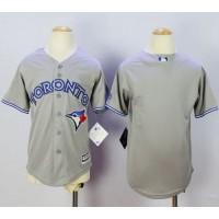 Blue Jays Blank Grey Cool Base Stitched Youth Baseball Jersey