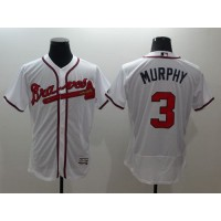 Braves #3 Dale Murphy White Flexbase Authentic Collection Stitched Baseball Jersey
