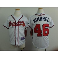 Braves #46 Craig Kimbrel White Cool Base Stitched Youth Baseball Jersey