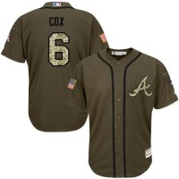 Braves #6 Bobby Cox Green Salute to Service Stitched Baseball Jersey