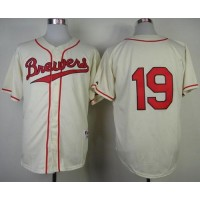 Brewers #19 Robin Yount Cream 1948 Turn Back The Clock Stitched Baseball Jersey
