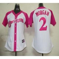 Brewers #2 Nyjer Morgan WhitePink Women's Splash Fashion Stitched Baseball Jersey