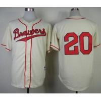 Brewers #20 Jonathan Lucroy Cream 1948 Turn Back The Clock Stitched Baseball Jersey