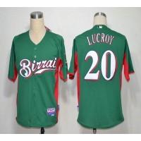 Brewers #20 Jonathan Lucroy Green Birrai Cool Base Stitched Baseball Jersey
