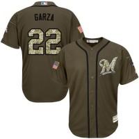 Brewers #22 Matt Garza Green Salute to Service Stitched Baseball Jersey