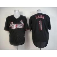 Cardinals #1 Ozzie Smith Black Fashion Stitched Baseball Jersey