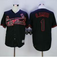 Cardinals #1 Ozzie Smith Black New Cool Base Fashion Stitched Baseball Jersey