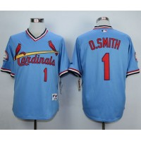 Cardinals #1 Ozzie Smith Blue 1982 Turn Back The Clock Stitched Baseball Jersey