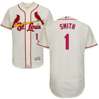 Cardinals #1 Ozzie Smith Cream Flexbase Authentic Collection Stitched Baseball Jersey