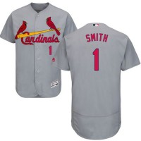 Cardinals #1 Ozzie Smith Grey Flexbase Authentic Collection Stitched Baseball Jersey