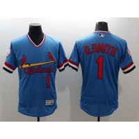 Cardinals #1 Ozzie Smith Light Blue Flexbase Authentic Collection Cooperstown Stitched Baseball Jersey