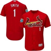 Cardinals #1 Ozzie Smith Red Flexbase Authentic Collection Stitched Baseball Jersey