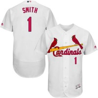Cardinals #1 Ozzie Smith White Flexbase Authentic Collection Stitched Baseball Jersey