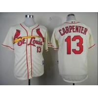 Cardinals #13 Matt Carpenter Cream Cool Base Stitched Baseball Jersey