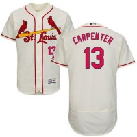 Cardinals #13 Matt Carpenter Cream Flexbase Authentic Collection Stitched Baseball Jersey