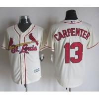 Cardinals #13 Matt Carpenter Cream New Cool Base Stitched Baseball Jersey
