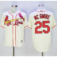 Cardinals #25 Mark McGwire Cream New Cool Base Stitched Baseball Jersey
