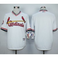 Cardinals Blank White 1982 Turn Back The Clock Stitched Baseball Jersey