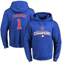 Chicago Cubs #1 Kosuke Fukudome Blue 2016 World Series Champions Pullover Baseball Hoodie